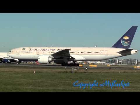 Saudi Arabian and Kuwait Airways Boeing 777-200ER - Depart London Heathrow Together
