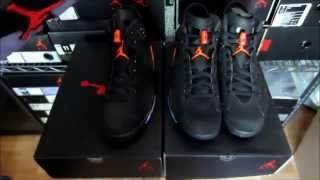 getlinkyoutube.com-Jordan 6 Black Infrared Authentic Vs. Fake