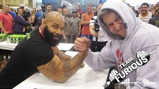 getlinkyoutube.com-Arm Wrestling vs C.T. Fletcher | Furious Pete