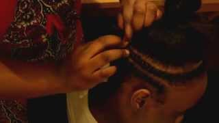 getlinkyoutube.com-Braid Pattern for Crochet Braids w/ Bang / Full Sew-in