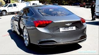 getlinkyoutube.com-2015 Hyundai Genesis HCD-14 Concept Engine Sound & Driving on the Road! Exclusive First Look!