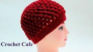getlinkyoutube.com-كروشيه طاقية بغرزة الباف | قناة كروشيه كافيه|Crochet Cafe