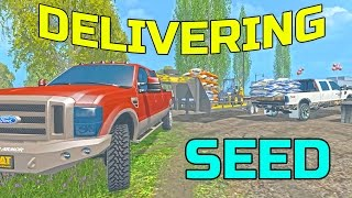 getlinkyoutube.com-FARMING SIMULATOR 2015 | HAULING SEED IN TRUCK BED AND TRAILER | F-250