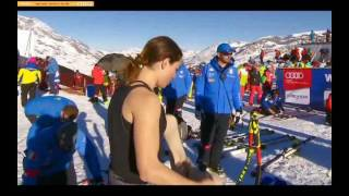 Woman  Skier Hot Moment