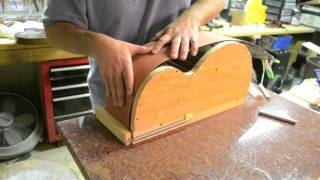 getlinkyoutube.com-Inside the Luthier's Shop: Bending Sides jig mold acoustic archtop Benedetto Style guitar