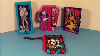 getlinkyoutube.com-2013 MONSTER HIGH SET OF 4 McDONALD'S HAPPY MEAL KID'S TOY'S VIDEO REVIEW