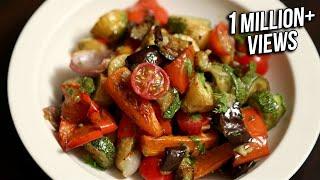 getlinkyoutube.com-Roasted Vegetable Salad Recipe   Quick & Easy Baked Veg Salad   Ruchi's Kitchen