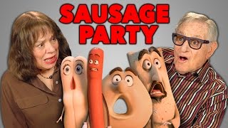 getlinkyoutube.com-Elders React to Sausage Party Trailer