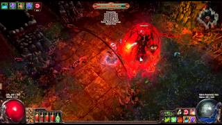 getlinkyoutube.com-Atziri Killed by Poison Arrow Trap (Full Dungeon and All Bosses)