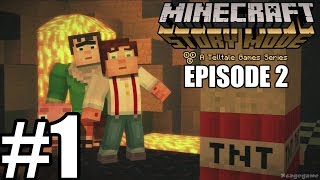 getlinkyoutube.com-Minecraft Story Mode Episode 2 - Gameplay Walkthrough Part 1 [ HD ] - No Commentary