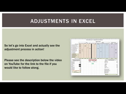 Accounting 101: Accrual Adjustment Process in Excel