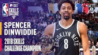 Spencer Dinwiddie Taco Bell Skills Challenge Champion | All 3 Rounds