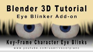 getlinkyoutube.com-Blender 3D Tutorial - Animate Character Blink with the Eye Blinker Add-On by VscorpianC