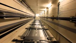 getlinkyoutube.com-shaft view! 2011 KONE MonoSpace MRL traction elevators @ Scandic Narvik, Narvik, Norway