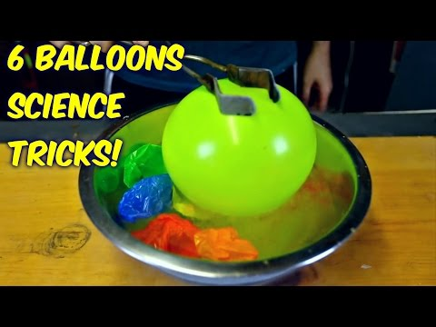 6 Science Tricks with Balloons - Compilation