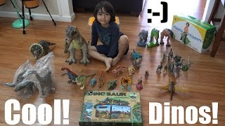 getlinkyoutube.com-Bunch of Dinosaur Toy Collection + A Dinosaur Box Unboxing & Playtime 1 of 2