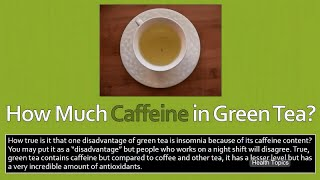 How Much Caffeine in Green Tea?