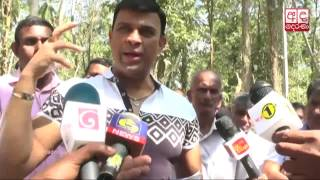 Ranjan visits rock mining site, responds Indika Anuruddha