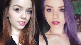 getlinkyoutube.com-NATURAL RED OR GINGER HAIR TO LILAC PURPLE