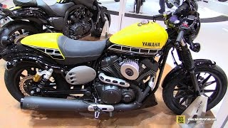 2016 Yamaha XV950 Racer ABS 60th Anniversary - Walkaround - 2015 EICMA Milan