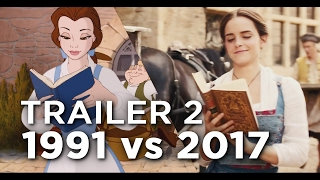 getlinkyoutube.com-Beauty and the Beast Trailer 2 - 1991 vs 2017 Comparison/Side by Side