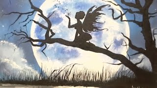 getlinkyoutube.com-FAIRY MOON SILHOUETTE