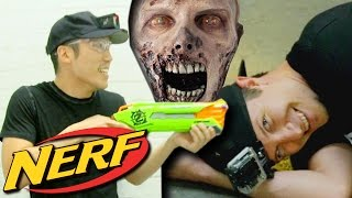 getlinkyoutube.com-NERF Funny Zombie Infection Game