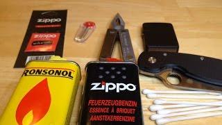 getlinkyoutube.com-Maintenance of a Zippo lighter
