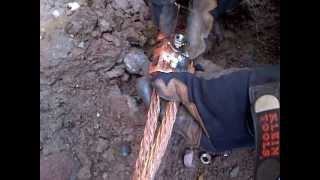 getlinkyoutube.com-Electrician's Life - Cad Welding Ground Rod to Copper Cable Ground Ring