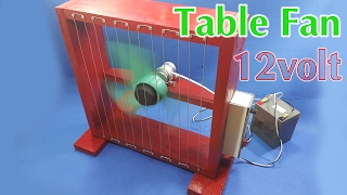 How To Make A 12volt Table Fan Using 550 Motor width=