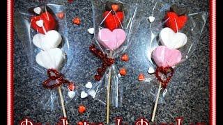getlinkyoutube.com-Diy. Brochetas de Bombones. Diy. marshmallow pops