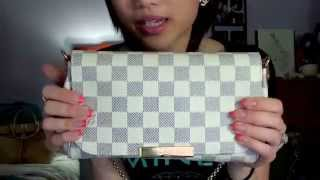 getlinkyoutube.com-Louis Vuitton Favorite PM Damier Azur Reveal!