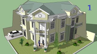 getlinkyoutube.com-Sketchup tutorial Make a house building Part 1