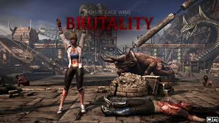getlinkyoutube.com-Mortal Kombat XL All Cassie Cage Fatalities, Brutalities, Secrets Brutalities X-Ray & Endings