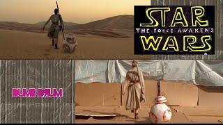 getlinkyoutube.com-Star Wars: The Force Awakens trailer sweded side by side comparison