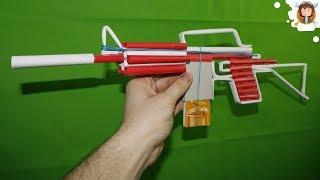 getlinkyoutube.com-How to make a Paper M4 Assault Rifle that Shoots