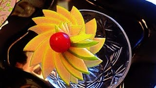 getlinkyoutube.com-HOW TO MAKE APPLE FLOWER - FRUITS CARVING & APPLE GARNISH - ART IN APPLE