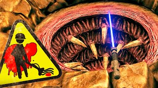 getlinkyoutube.com-Viscera Cleanup Detail - Lightsaber Duel the Sarlacc Pit! - Gameplay