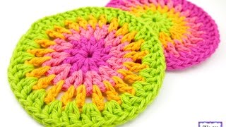 getlinkyoutube.com-How To Crochet the Simply Cheerful Trivets/Coasters, Episode 297