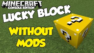 getlinkyoutube.com-Minecraft XBOX | How To Make Lucky Block Without Mods