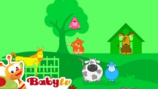 getlinkyoutube.com-Louie's World - Animals and The farmer in the Dell Song | BabyTV