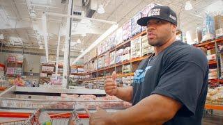 getlinkyoutube.com-Off-Season Grocery Shopping with 300lb Pro Bodybuilder Juan Morel