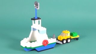 """getlinkyoutube.com-Lego Cargo Boat with Truck Building Instructions - Lego Classic 10702 """"How To"""""""