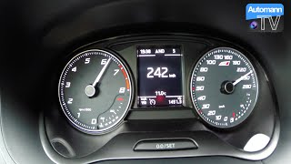 getlinkyoutube.com-2016 SEAT Ibiza Cupra (192hp) - 0-242 km/h acceleration (60FPS)