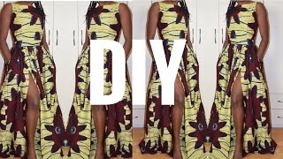 DIY I How To Make Gathered Maxi Dress With Slit I Re-Load
