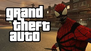 getlinkyoutube.com-GTA 4: SPIDERMAN VS CARNAGE! Spiderman Mod With Webs VS Carnage (GTA Spiderman VS Carnage Mod)