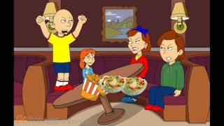 getlinkyoutube.com-Caillou Misbehaves At The Restaurant Gets Grounded