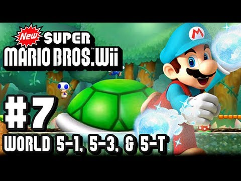 New Super Mario Bros Wii - Part 7 - World 5-1, 5-3, & 5-Tower