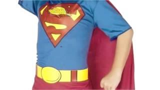 getlinkyoutube.com-Fantasia Super Homem Super Man Infantil Licenciada FantasiasCarol