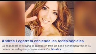 getlinkyoutube.com-#AndreaLegarreta se destapa en redes sociales en diminuto bikini